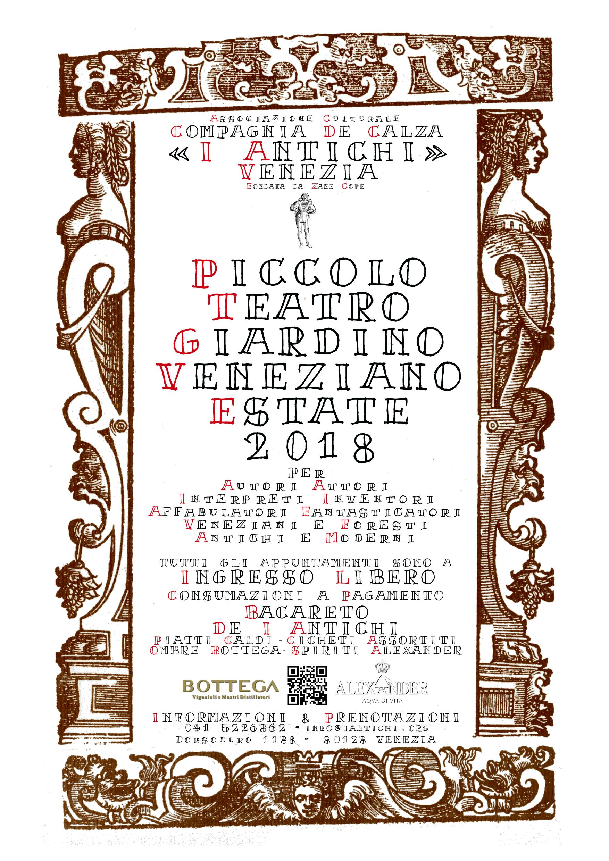 Estate 2018 - Piccolo Teatro Giardino Veneziano