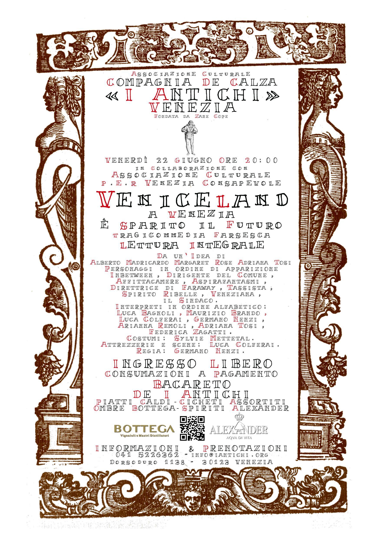 Venerdì 22 Giugno - Veniceland - A Venezia è sparito il futuro - Lettura Integrale
