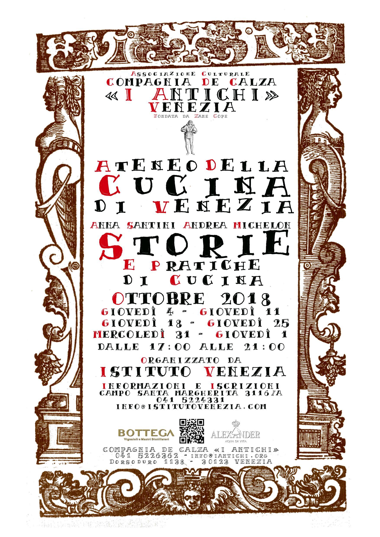 Storie e Pratiche di Cucina in Lingua Italiana - Programma di Ottobre 2018