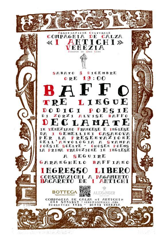8 DICEMBRE 2018 -  Baffo Tre Lingue