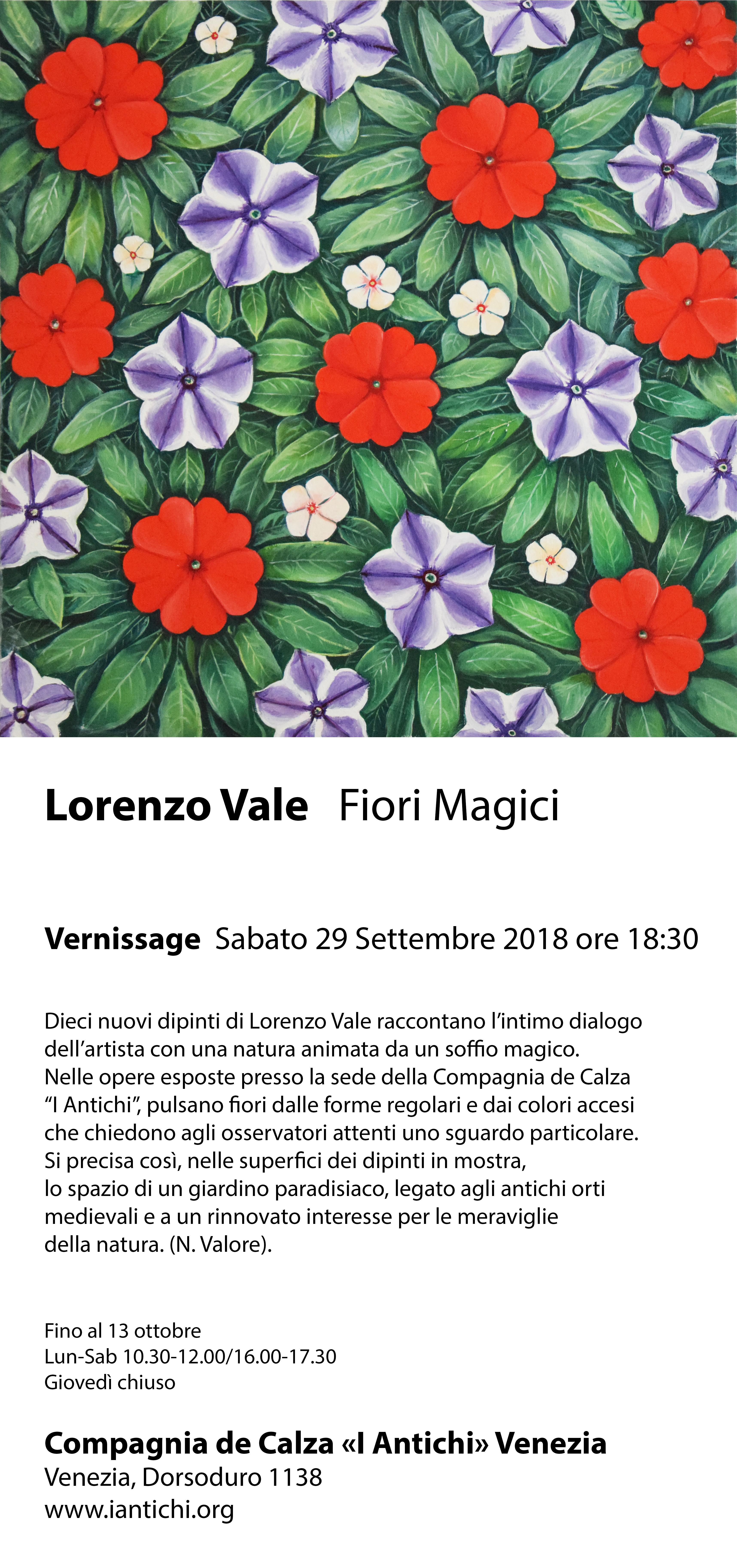 Lorenzo Vale, Fiori Magici.